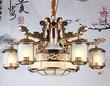 东韵达观P9002-6+4铜本色室内吊灯