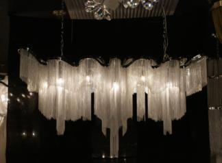 欧美仕.卫仕现代MD140802-12铝链吊灯