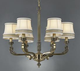 星豪铜府现代室内MD3109-6铜本色吊灯
