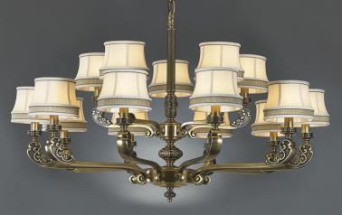 星豪铜府现代室内MD3109-10+5吊灯