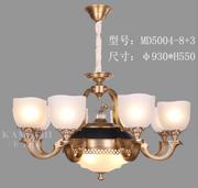 卡迈奇现代MD5004-8+3欧式铜灯