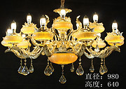 欧式贵族室内黄龙玉水晶灯