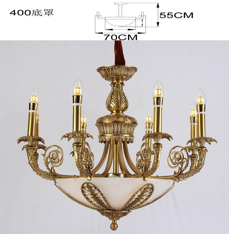 新华压铸 奢华金色蜡烛吊灯别墅酒店专用吊灯T9851-8