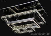 柏艺灯饰高雅室内LED水晶灯10097-950长方形三层水晶灯