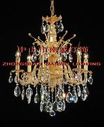 欧式金色优雅室内透明水晶蜡烛暖光铜灯