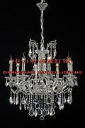 欧式银色室内透明水晶蜡烛娇小铜灯