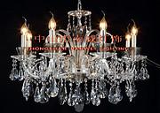 欧式银色室内透明水晶蜡烛暖光铜灯