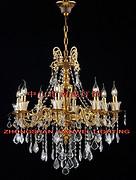 欧式金色室内透明水晶蜡烛暖光铜灯