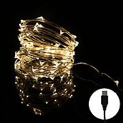 usb 10米银线灯