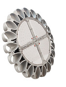 现代圆形太阳花工矿灯