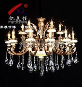 亿美佳现代室内68013-12+6水晶吊灯
