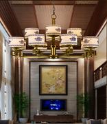 中式陶瓷铜灯
