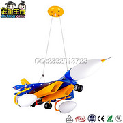 儿童吊灯-MD1784立体3D蓝色战斗机儿童灯
