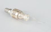 拉丝玻璃透明LED蜡烛灯
