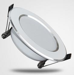 室内银色草帽形筒灯