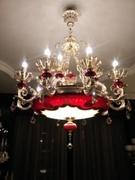 法式典雅全铜玻璃吊灯