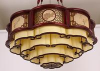 中式大吊灯仿古典祥云灯实木圆形客厅灯