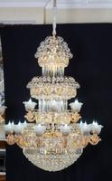 摩尔阁·铁菲灯饰复式楼客厅吊灯楼中楼别墅客厅大吊灯酒店工程LED水晶灯大厅灯饰