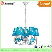 蓝色海豚吊灯