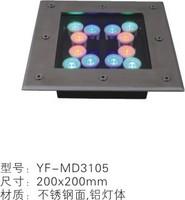 不锈钢彩色LED埋地灯