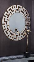 晶致品 创意造型艺术银镜精磨边浮雕贴金箔密集中纤板黑漆挂镜JY3081