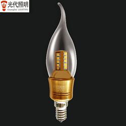 简约金色拉丝LED蜡烛灯泡