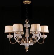 维利亚全铜灯95857/6 D750*H550欧式美式法式吊灯琉璃铜灯