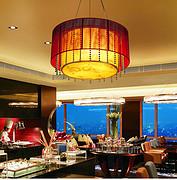 中式复古羊皮客厅吊灯
