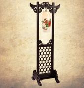 中式古典实木陶瓷落地灯