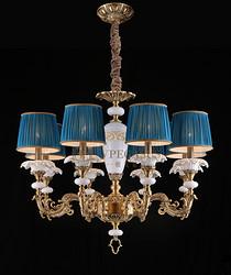 全铜法式吊灯 铜灯 陶瓷铜灯