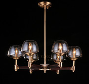 维利亚全铜吊灯95915/6实木吊灯新中式小美式北欧风吊灯