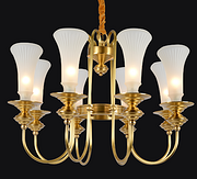 美式仿铜工艺卧室吊灯