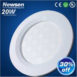 简约白色圆形20W面板灯