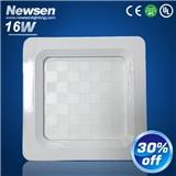 简约白色16W正方形面板灯