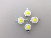 1W/3W正白光LED 普瑞45芯片 纯金线 铜支架