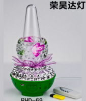Led七彩莲花灯变色音乐喷泉灯小型灯具USB遥控小夜灯灯具舞台灯
