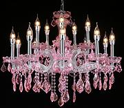 欧式优雅水晶客厅蜡烛吊灯