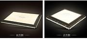 新款现代简约LED水晶客厅客厅铁艺吸顶灯