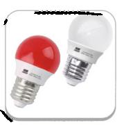 高端质量家用3W白红黄光LED照明灯泡