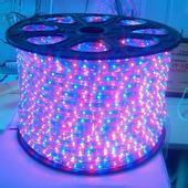 防水5050LED四线七彩220v灯带 高亮炫彩可变色灯带