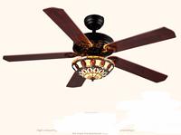 中式古典高贵木质客厅餐厅风扇灯