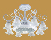 美式优雅大气负离子静音卧室风扇灯