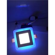 铝亚克力吸顶式方形双色面板灯