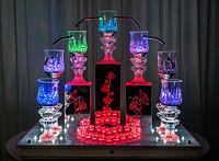 丘比特香槟塔送7个发光杯子天使香槟塔烛台天使香槟塔