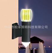 现代创意LED双头尖型圆弧柱形户外过道壁灯
