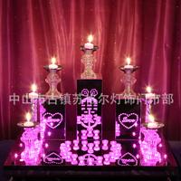 创意不锈钢喜字丘比特烛台婚庆发光杯蜡烛台