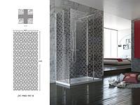 高档现代十字格纹卫浴玻璃