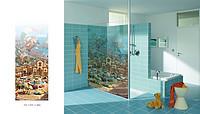 创意现代海边城堡图卫浴玻璃