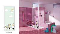 创意卡通人物卫浴玻璃