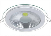 透明圆形面板灯
